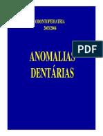 Anomalias dentarias
