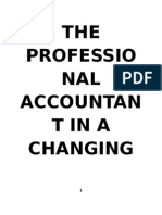 The Professional Accountant in a Changing Environment