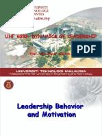 Module 3 Ldsp Behavior & Motivation L'SHIP-3