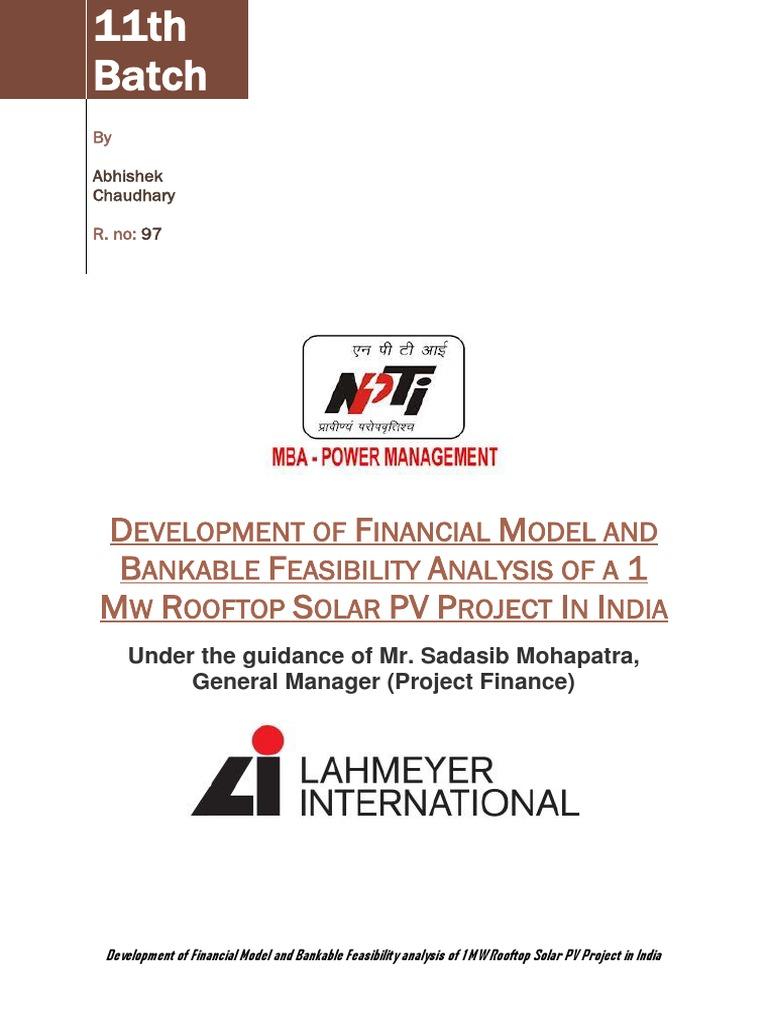 Report Lahmeyer Intern Abhi   Photovoltaics   Photovoltaic