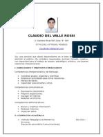 Cv Claudio Del Valle
