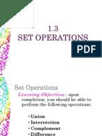 1.3 Set Operations