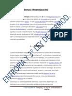 Entropia y Termodinámica