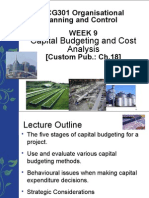Week 9 Lecture Capital Budgeting and Cost Analysis (1)