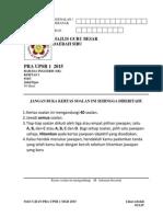 014 Paper 1 Mgb 2015 Upsr Pra