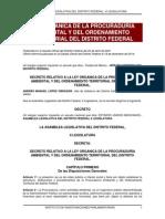 Ley Organica de La Procuraduria Ambiental y Del Ordenamiento Territorial Del Distrito Federal