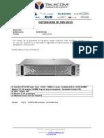 Cotizacion 05 Teelecom Server Hp