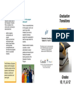 Graduation Transitions - Grades 10 11 & 12 - English