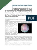 Un Sensor Ultrapreciso Detecta Electrones Individuales