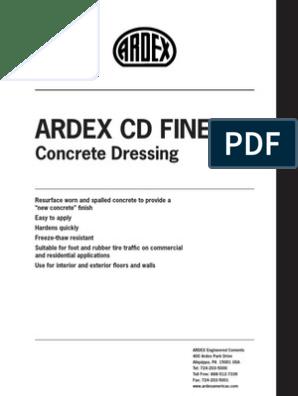 Ardex CD pdf | Concrete | Water