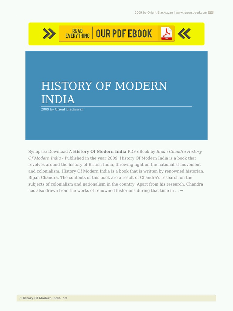 Constitutional History Of India Ebook