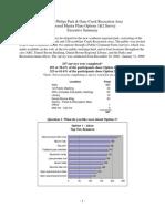 SE Reg Park Survey Report