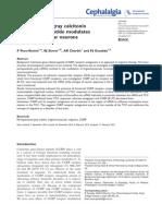 Periaqueductal gray calcitonin