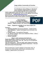 agenda for cop meeting 20 august 2015