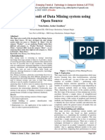 Study and Result of Data Mining system using Open Source
