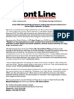 Press Release from Frontline