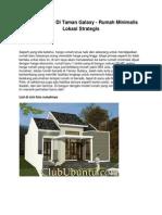 Rumah Dijual Di Taman Galaxy - Rumah Minimalis Lokasi Strategis - www.clububuntu.com