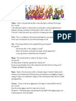 elements and principles of art handout