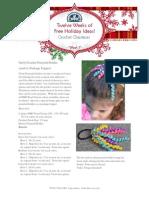 Crochet Christmas Ponytail Holder