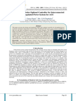 Design of Full Order Optimal Controller for Interconnected Deregulated Power System for AGC