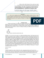 Synthesis and characterization of resin copolymer derived from cardanol-furfural/ formaldehyde –p-hydroxy benzoic acid.