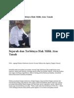 Sejarah dan Terbitnya Hak Milik Atas Tanah.pdf