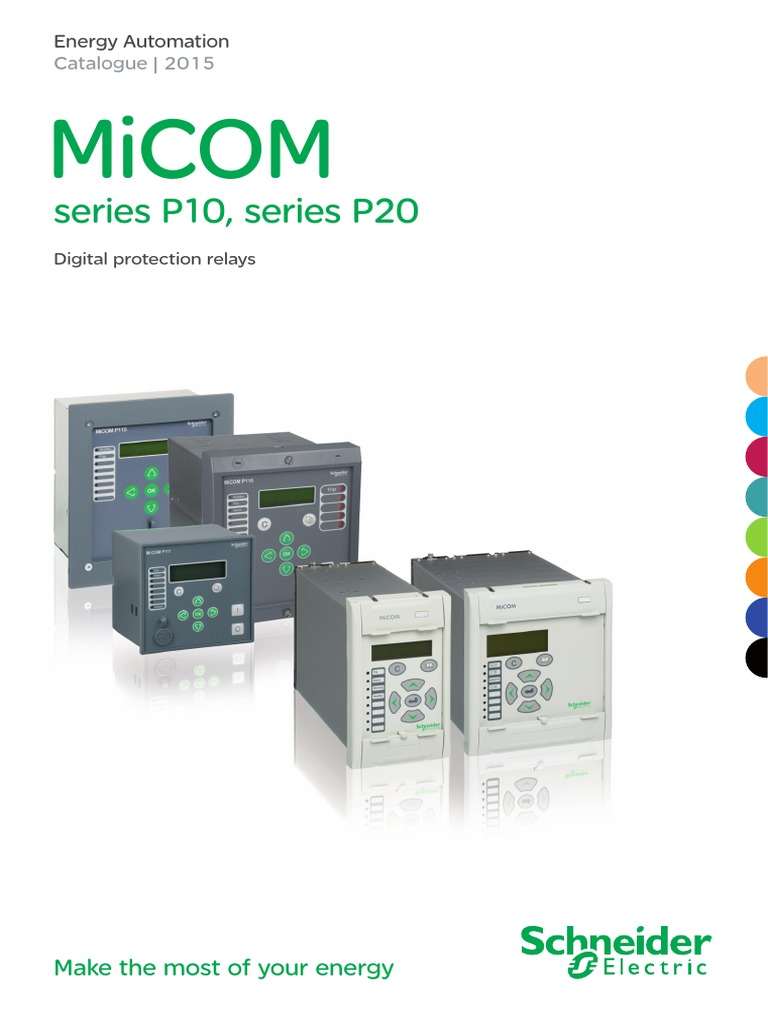 micomp10p20 catalogue nrjed112402en relay transformer rh scribd com Schneider Micom Schneider Micom Relays