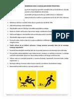 Uputstvo Za Bezbedan Rad u Kancelarijskom Prostoru