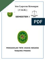 Catatan Atas Laporan Keuangan