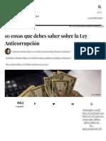 10 Cosas Que Debes Saber Sobre La Ley Anticorrupción - Forbes México