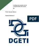 Instala y Configura Software de Acuerdo Con Las Especificaciones y Requerimientos Del Usuario