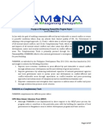 PAMANA Accomplishment Report for the 1st Quarter of 2014