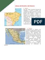 L'indipendenza del Brasile e del Messico