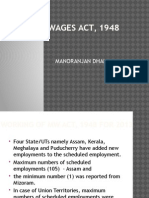 Minimum Wages Act 1948
