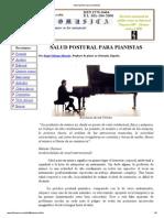 Salud Postural Para Pianistas