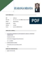 Curriculum Vitae Pamela Huaranga