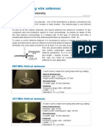 Helical Coating Wire Antennas Datasheet