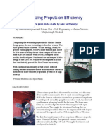 Maximizing Propulsion Efficiency