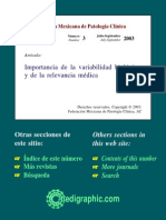 Variabilidad Analitica y Biologica