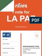 Yo voto por La Paz