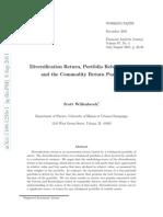 Diversification Return, Portfolio Rebalancing,