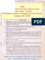 Assistant Provident Fund Commissioners Exam