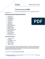 Announcing our Scholars Chosen by PMIEF