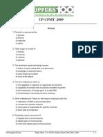 Up Cpmt Paper 1 2009