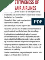 Ryanair airlines presentation
