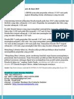 Honda Mobilio Paling Laris Di Juni 2015
