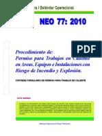 NEO-77 Procedimiento de Permiso Para Trabajos en Caliente en Areas, Equipos e Instalaciones Con R