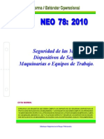 NEO-78 Seguridad de Las Máquinas – Dispositivos de Seguridad en Maquinarias o Equipos de Trabajo.