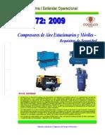 NEO-72 Compresores de Aire Estacionarios y Móviles– Requisitos de Seguridad.