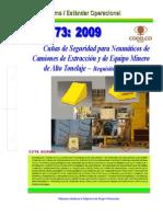 NEO-73 Cuñas de Seguridad Para Neumáticos de Camiones de Extracción y Equipo Minero de Alto Tonel
